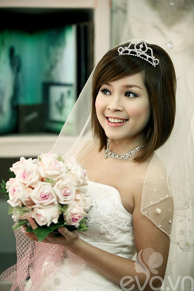 Cô dâu tóc ngắn đẹp 5