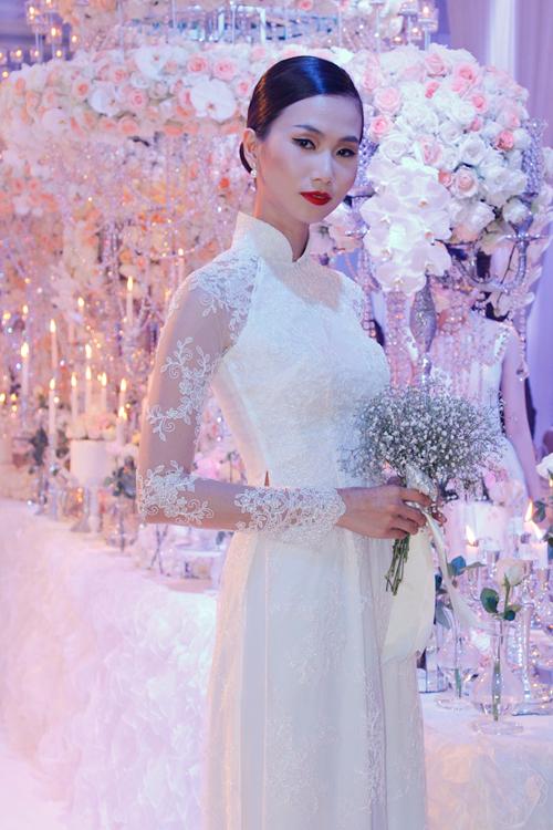 Áo dài voan lưới cô dâu 01