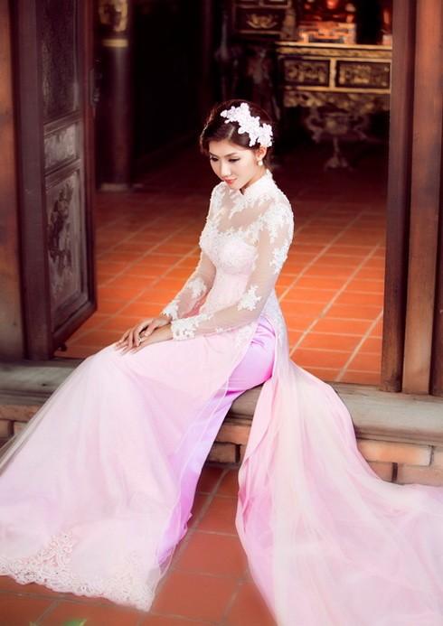 Áo dài voan lưới cô dâu 03