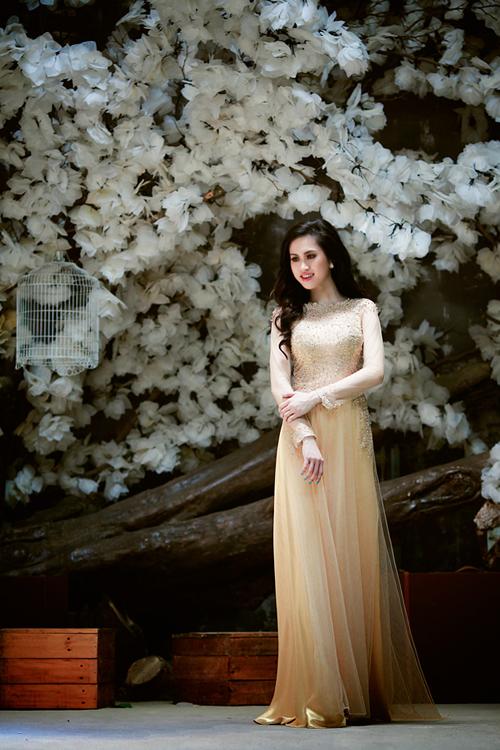 Áo dài voan lưới cô dâu 04