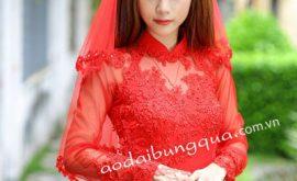 Áo dài voan lưới cô dâu 05