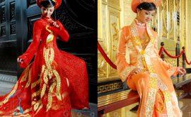áo dài cô dâu