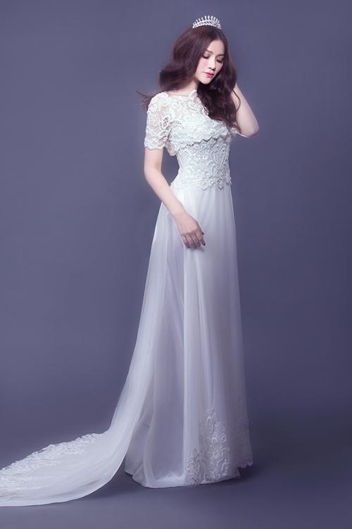 Áo dài cưới đẹp kiêu sa