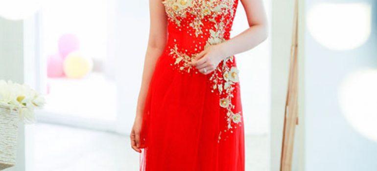 bí quyết chọn áo dài cho cô dâu siêu mỏng