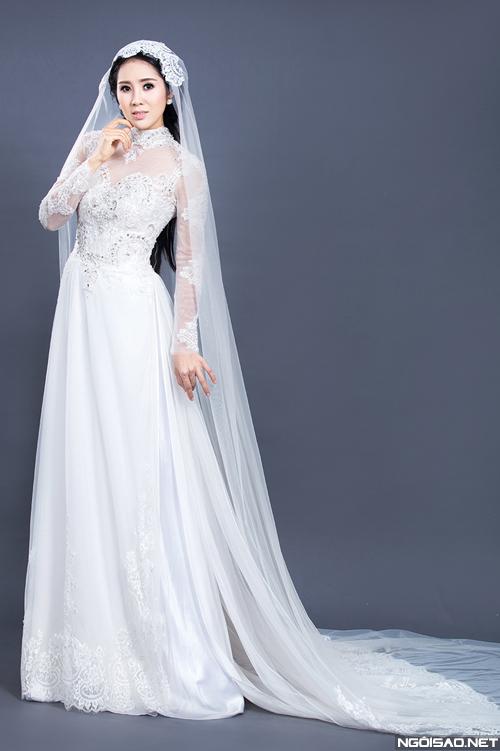 Áo dài cưới phong cách hoàng gia 07
