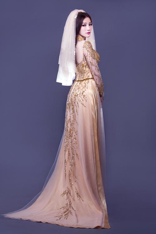 Áo dài cưới phong cách hoàng gia 09
