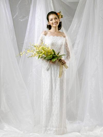 Áo dài cưới trễ vai 05
