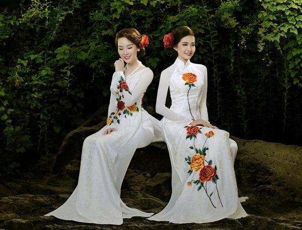 Áo dài trắng đẹp long lanh cho cô dâu 02