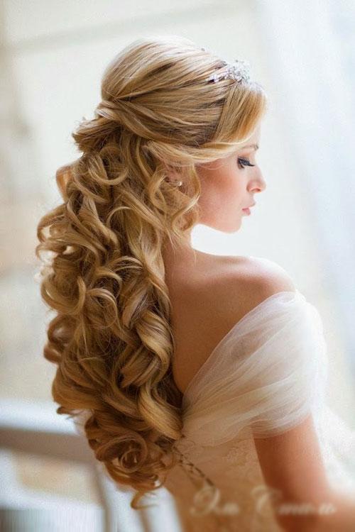 Kiểu tóc xoăn cho cô dâu 02