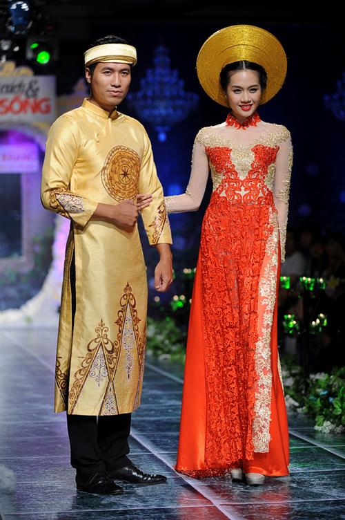 Mẫu áo dài cưới đỏ mới nhất 06