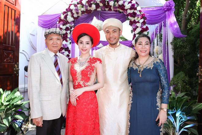 Sao Việt dồn dập cưới hỏi - Quỳnh Nga diện áo dài hiện đại