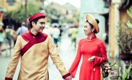 áo dài cưới màu đỏ 02