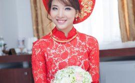 ý nghĩa màu sắc áo dài cưới