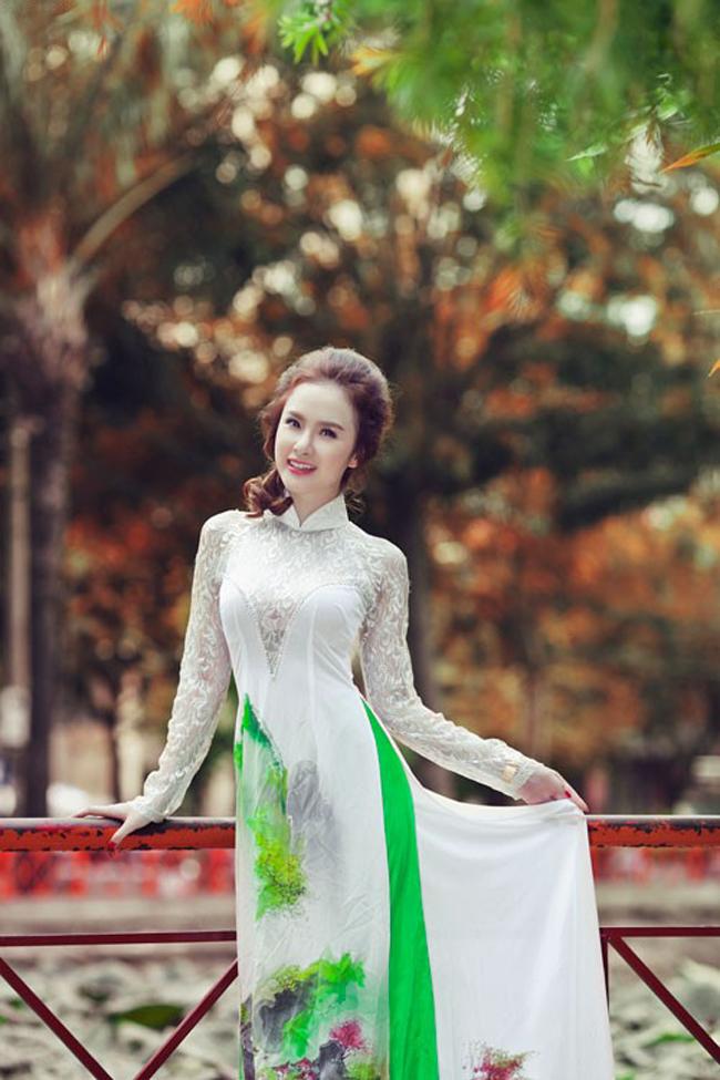 Áo dài cưới mang hơi thở mùa xuân 06