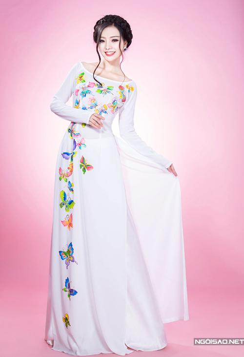 Áo dài cưới mang hơi thở mùa xuân 09