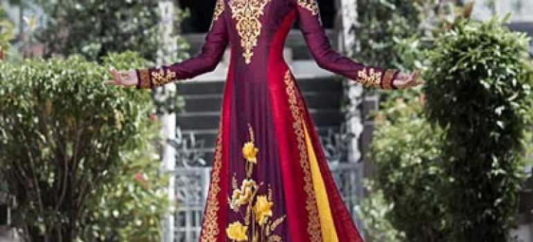 Áo dài cưới mang phong cách cung đình 03