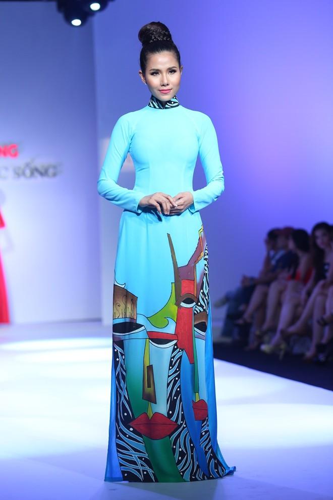 Áo dài xanh ngọc thanh nhã 04