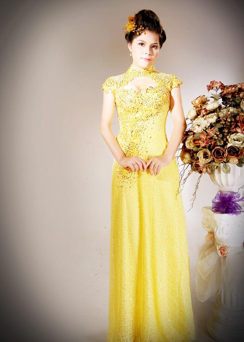 Chọn áo dài cưới theo cung sao 01