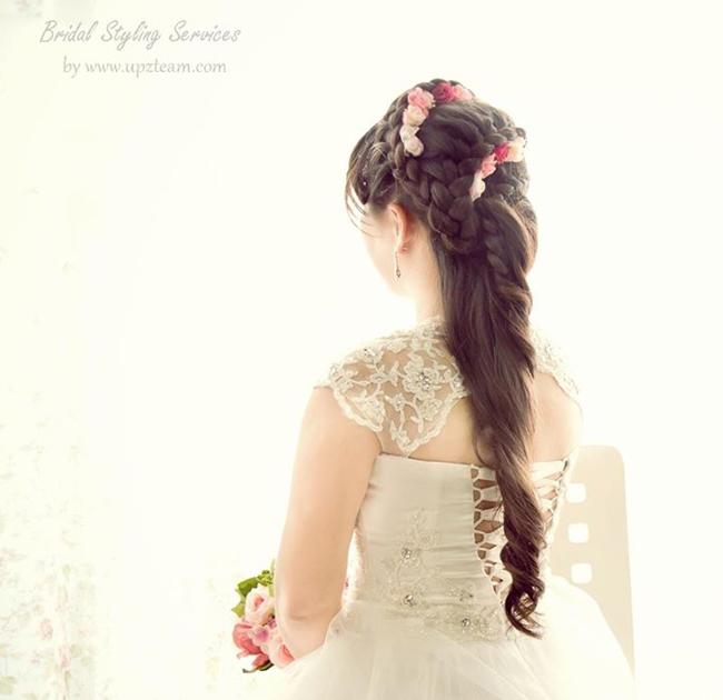 Tóc tết cho cô dâu 08