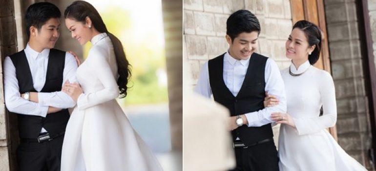 Áo dài trắng cho cô dâu 03