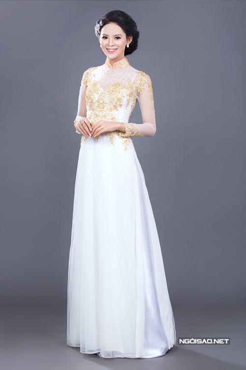 Áo dài trắng cho cô dâu 07