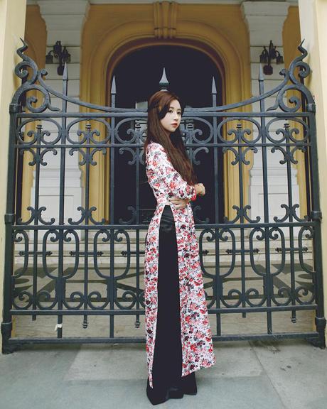 Rạng rỡ cùng áo dài hoa 03