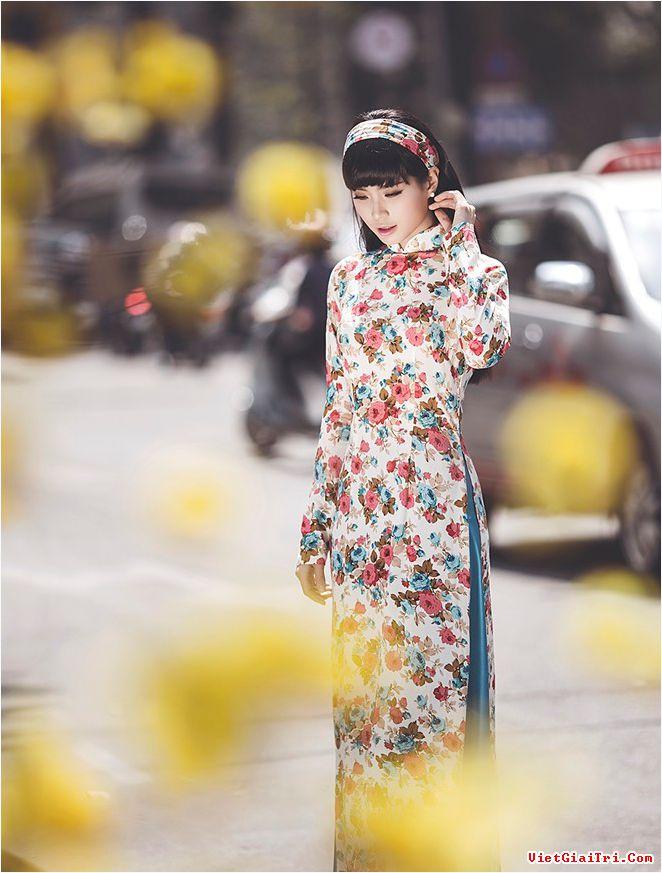 Rạng rỡ cùng áo dài hoa 05