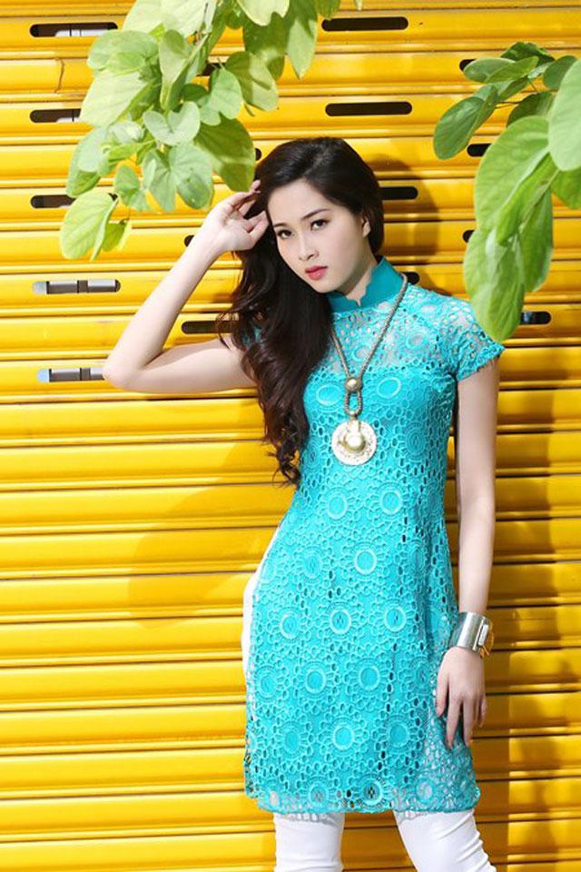 Áo dài cách tân vạt ngắn hot nhất hè Sài Gòn 08