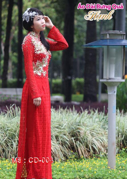 Áo dài cưới dành cho cô dâu mẫu số 4
