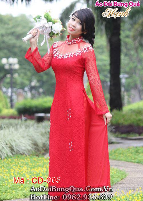 Áo dài cưới dành cho cô dâu mẫu số 5