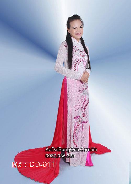 Áo dài cưới dành cho cô dâu mẫu số 11