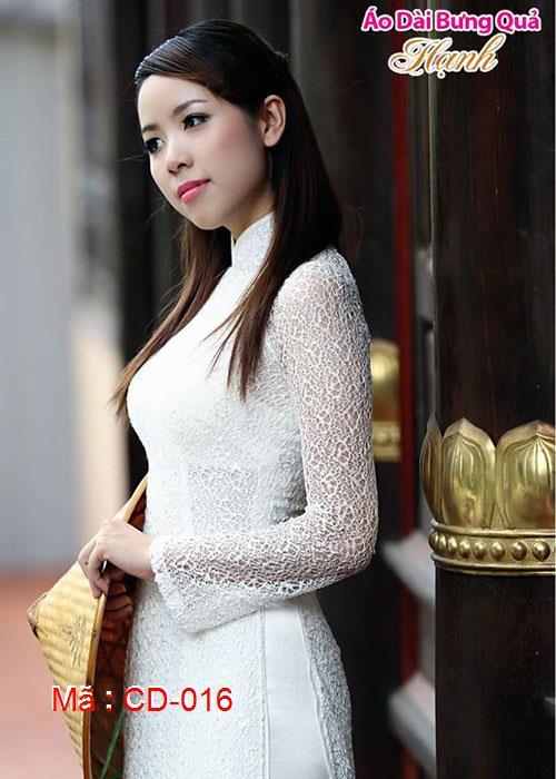 Áo dài cưới dành cho cô dâu mẫu số 16