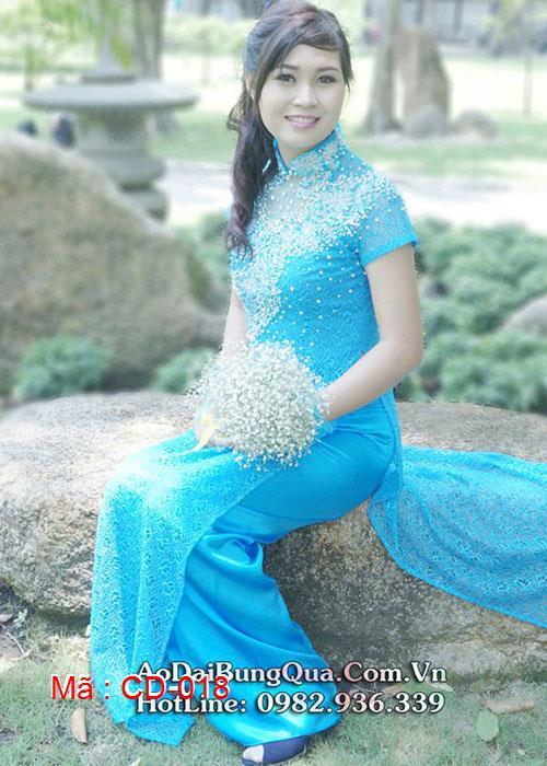 Áo dài cưới dành cho cô dâu mẫu số 18