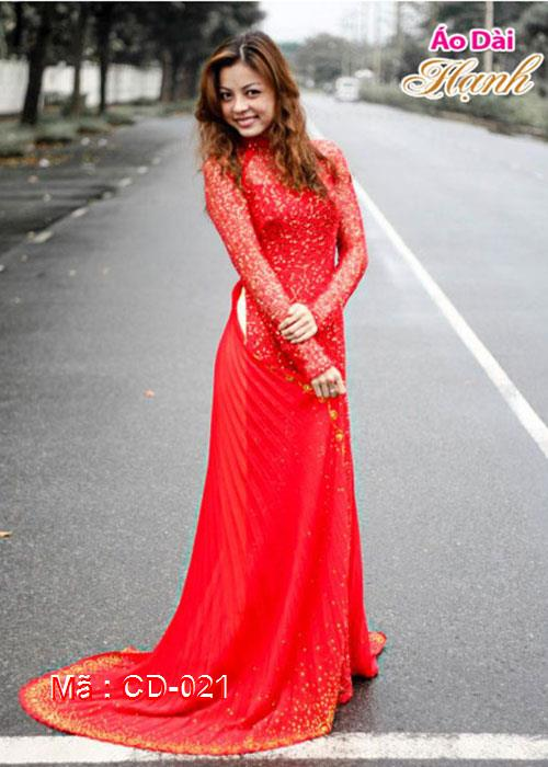 Áo dài cưới dành cho cô dâu mẫu số 21