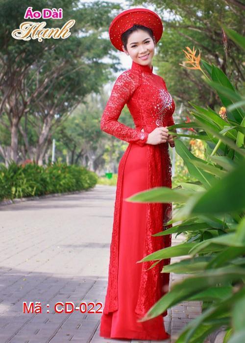 Áo dài cưới dành cho cô dâu mẫu số 22