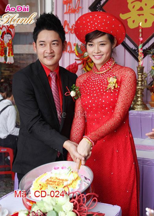 Áo dài cưới dành cho cô dâu mẫu số 24