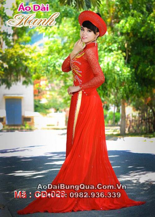 Áo dài cưới dành cho cô dâu mẫu số 28
