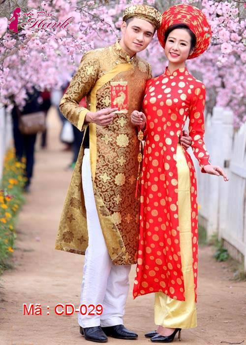 Áo dài cưới dành cho cô dâu mẫu số 29