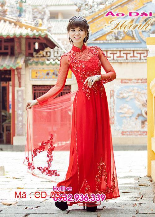 Áo dài cưới dành cho cô dâu mẫu số 32