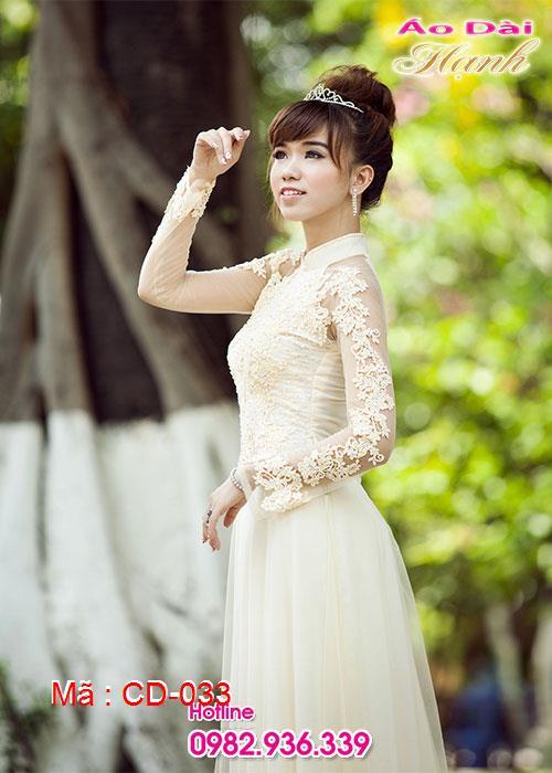 Áo dài cưới dành cho cô dâu mẫu số 33
