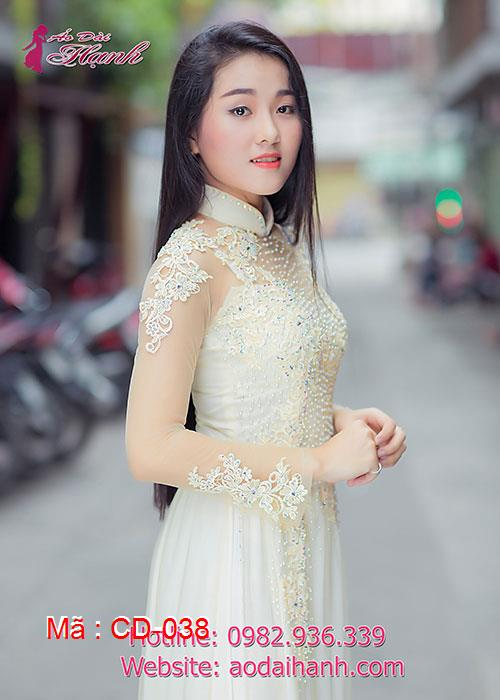 Áo dài cưới dành cho cô dâu mẫu số 38