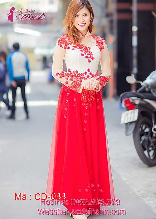 Áo dài cưới dành cho cô dâu mẫu số 44