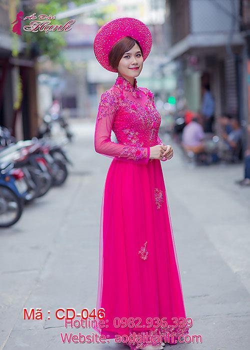 Áo dài cưới dành cho cô dâu mẫu số 46