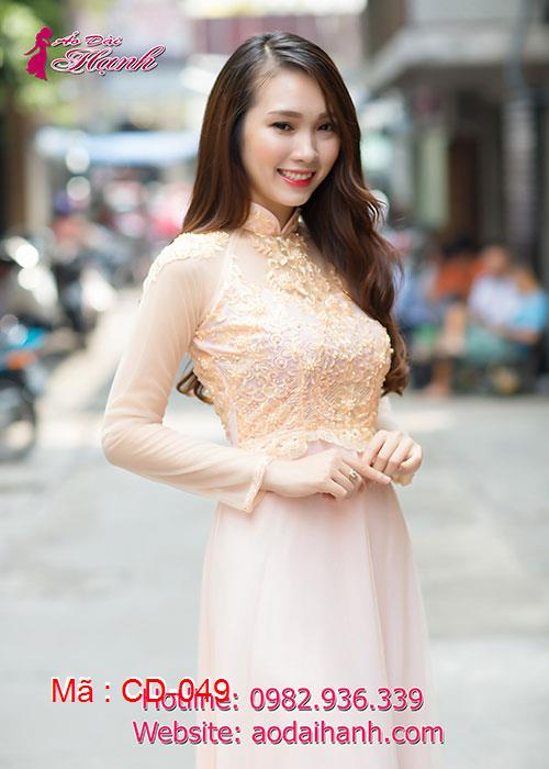 Áo dài cưới dành cho cô dâu mẫu số 49