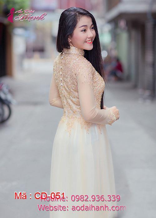 Áo dài cưới dành cho cô dâu mẫu số 51