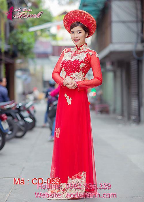 Áo dài cưới dành cho cô dâu mẫu số 53