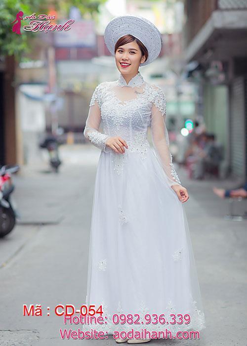 Áo dài cưới dành cho cô dâu mẫu số 54