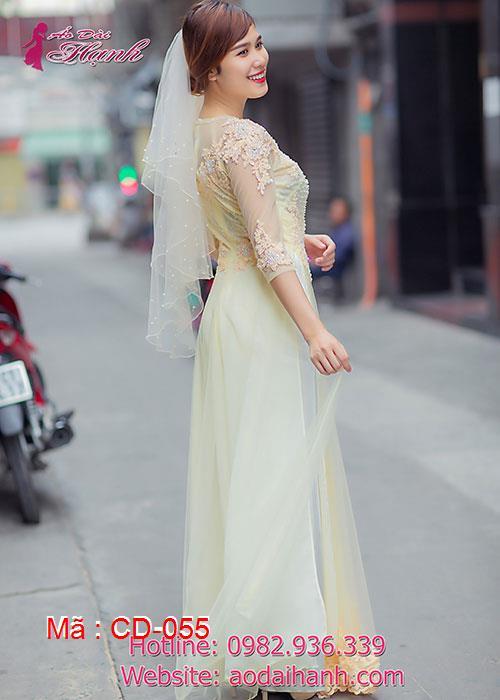 Áo dài cưới dành cho cô dâu mẫu số 55