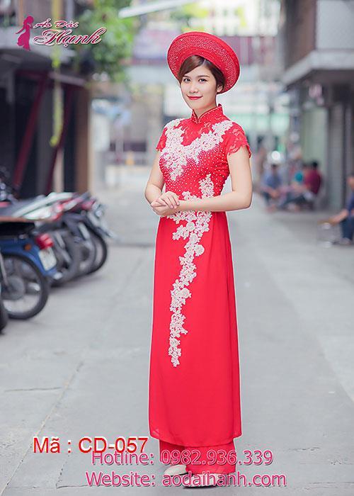 Áo dài cưới dành cho cô dâu mẫu số 57