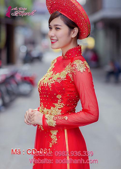 Áo dài cưới dành cho cô dâu mẫu số 61